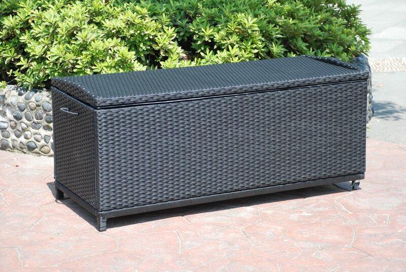 hanna wicker and rattan garden storage box - Garden Storeage Boxes