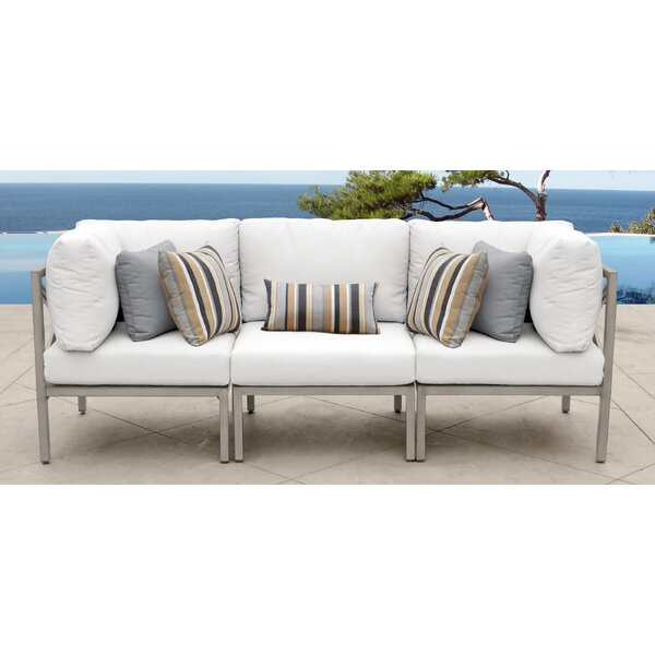 Carlisle 3 Piece Outdoor Sofa Set with Cushions by TK Classics