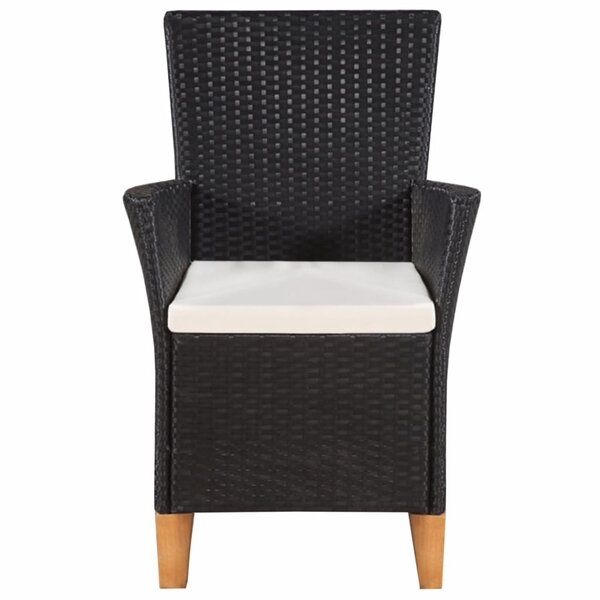 Alenka Patio Dining Chair With Cushion (Set Of 2) By Ebern Designs