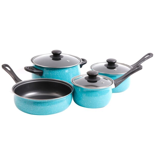 Casselman 7 Piece Non-Stick Stainless Steel Cookware Set by Gibson