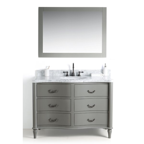 Kingston Seymour Wood 49 Single Bathroom Vanity Set with Mirror by Ophelia & Co.