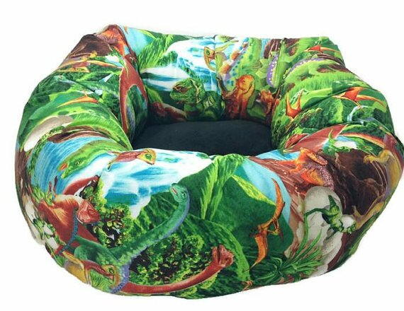 Dinosaur Round Bolster by East Urban Home