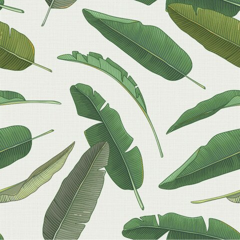 Banana Leaf 8 X 20 Botanical Wallpaper Roll