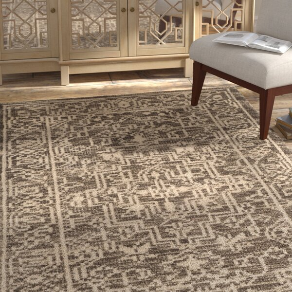 Maffei Hand-Woven Wool Brown/Beige Area Rug by Mistana