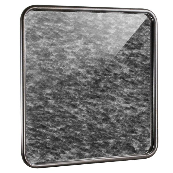 Naya Rounded Square Silver Antiqued Framed Accent Mirror by Bloomsbury Market