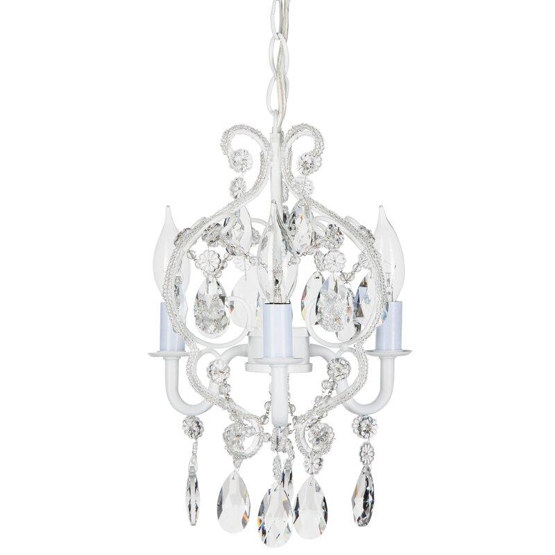 Alida 3 light crystal chandelier
