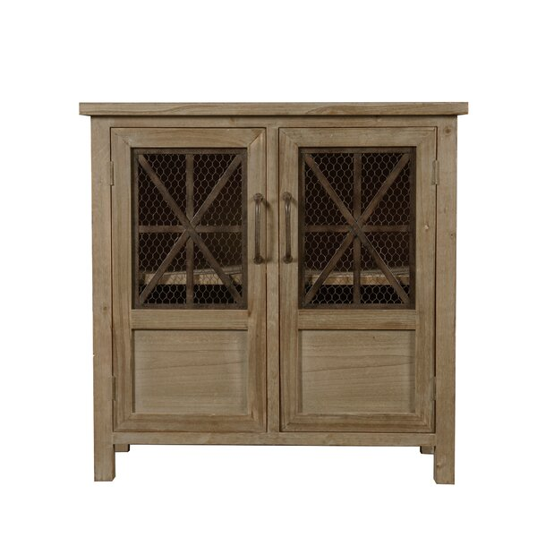 Seaman Wood and Metal 2 Door Accent Cabinet by Millwood Pines