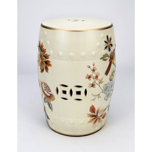 Glenmore Birds and Flowers Garden Stool by Charlton Home