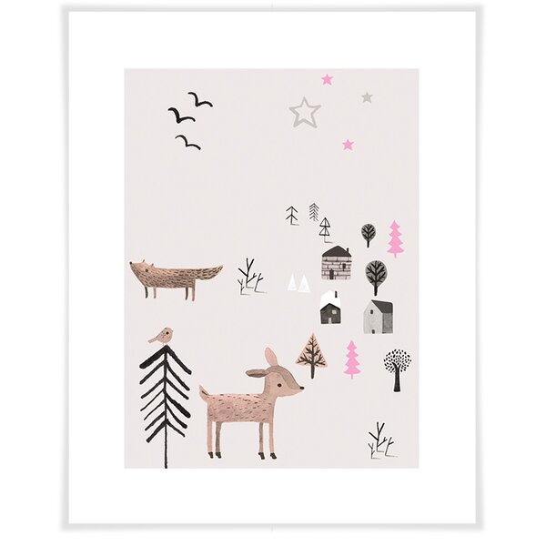 Ardlow Winter Forest 1 Paper Print by Harriet Bee
