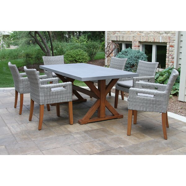 Hutchinson 7 Piece Dining Set with Cushions by Alcott Hill