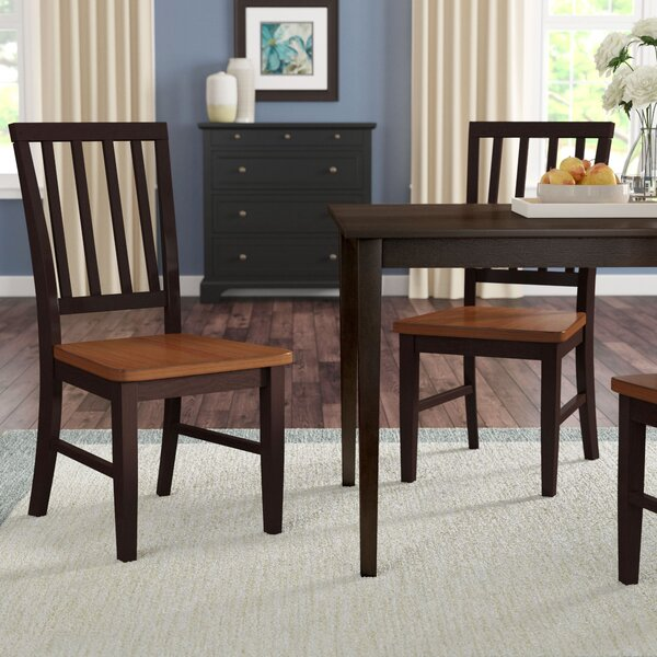 Krueger Solid Wood Dining Chair (Set of 2) by Charlton Home