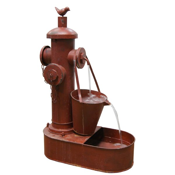 Metal Fire Hydrant Iron Tiered Fountain by Woodland Imports