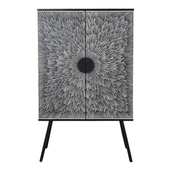Papillion Sunburst Bar Cabinet By Corrigan Studio