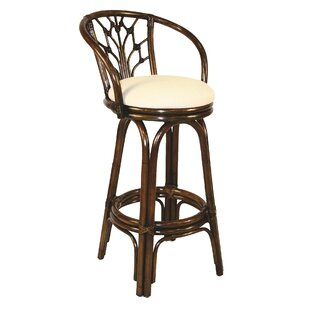 Review Jamison 30 Swivel Bar Stool by Beachcrest Home