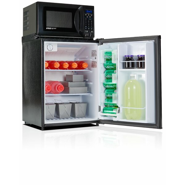 Safe Plug 2.3 cu. ft. Compact Refrigerator with Microwave by Microfridge