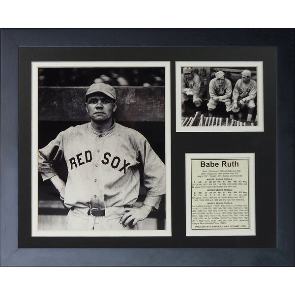 Babe Ruth - Red Sox Framed Memorabilia by Legends Never Die