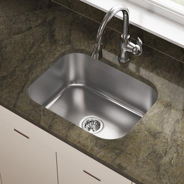 Stainless Steel 23 x 18 Undermount Kitchen Sink by MR Direct