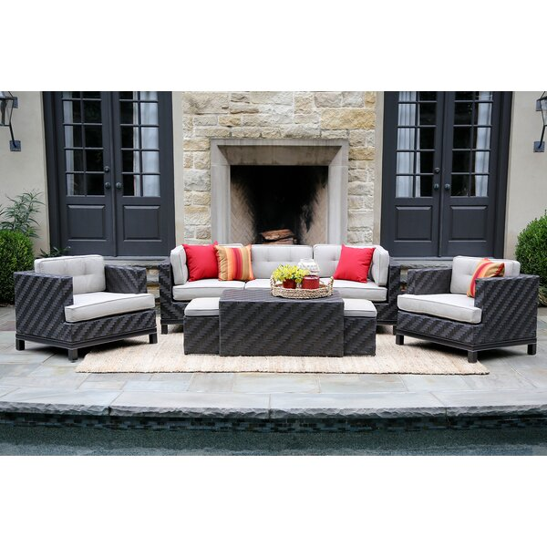 Yara 8 Piece Rattan Sunbrella Sofa Seating Group with Cushions by Mistana