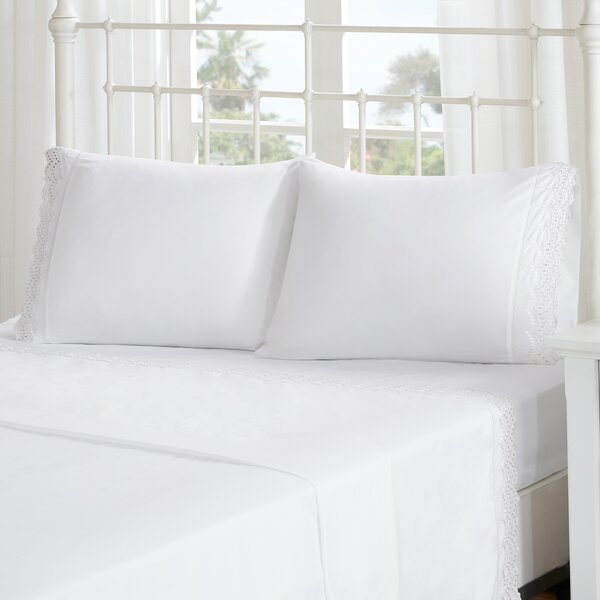 Lalie Scalloped Eyelet Embroidered Sheet Set by Lark Manor