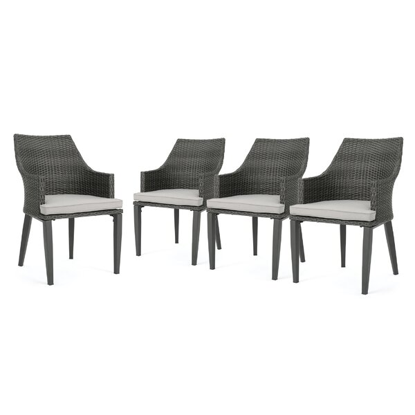 Beaumys Patio Dining Chair with Cushions (Set of 4) by Ivy Bronx