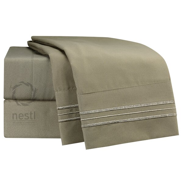 Turtledove Microfiber Sheet Set by Nestl Bedding