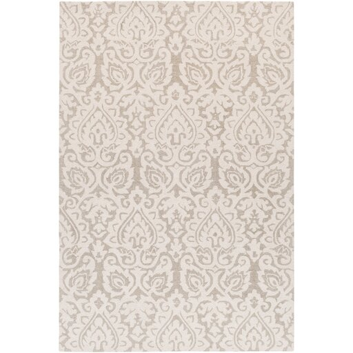 Russellville Hand-Hooked Neutral/Brown Area Rug by Charlton Home
