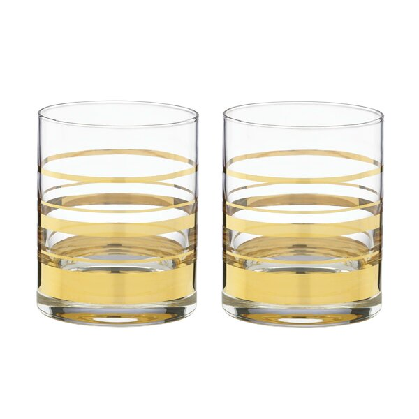 Hampton Street 12 oz. Old Fashioned Glass (Set of 2) by kate spade new york