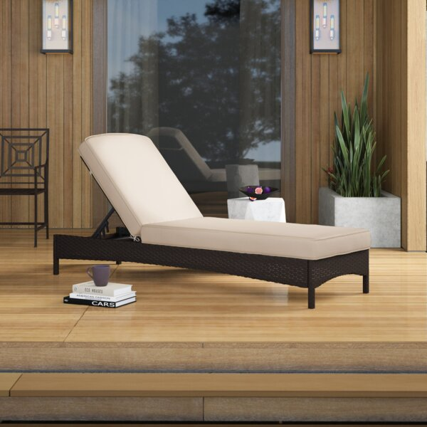 Belton Reclining Chaise Lounge with Cushion by Mercury Row