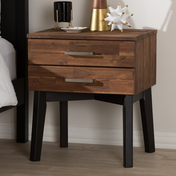 Tion 2 Drawer Wood Nightstand by Union Rustic