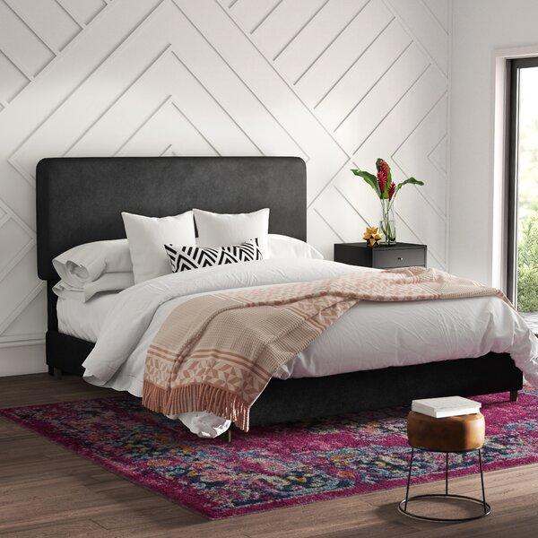 Mclaughlin Velvet Upholstered Standard Bed by Mercury Row