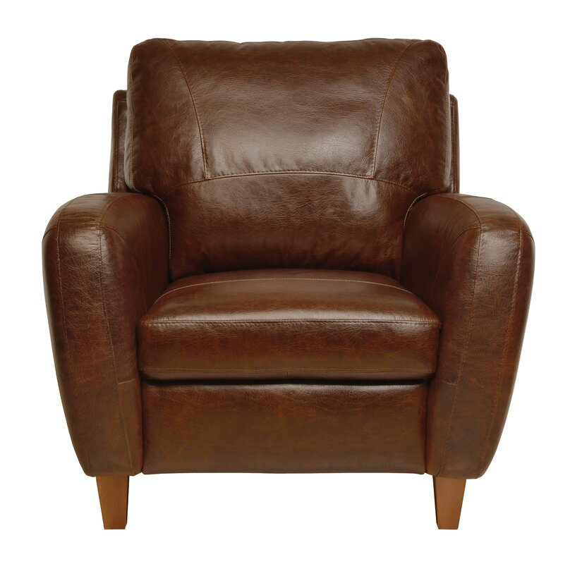 Brown Leather Club Chair Oaks Armchair