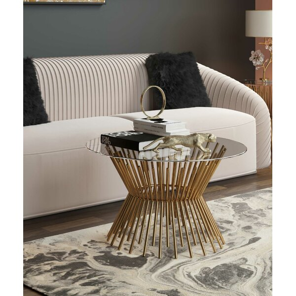 Pedestal Coffee Table By Inspire Me! Home Décor