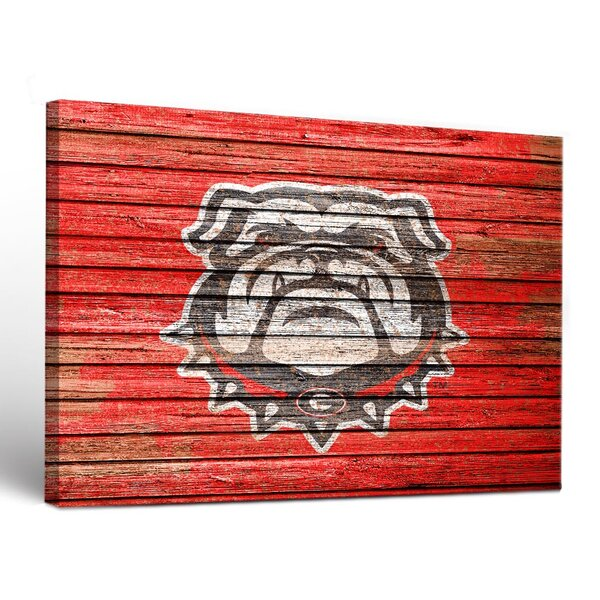 NCAA Weathered Framed Graphic Art on Wrapped Canvas by Victory Tailgate