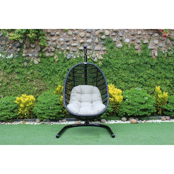 Greenburgh Solid Outdoor Swing Chair by Bayou Breeze