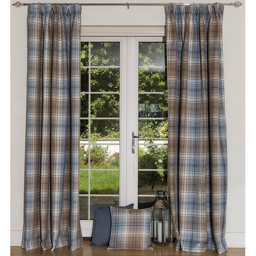 Choate Pencil Pleat Semi Sheer Thermal Curtains Union Rustic
