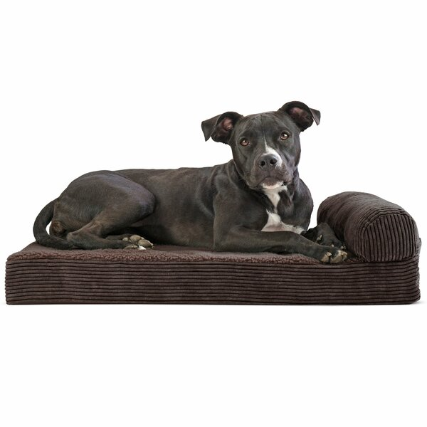 Arvin Faux Fleece and Corduroy Dog Sofa by Tucker Murphy Pet
