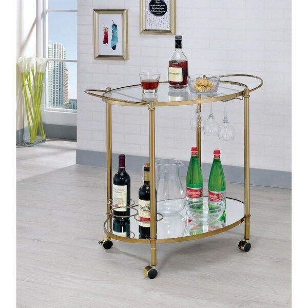 Moravian 2 Shelf Metal Bar Cart by Orren Ellis Orren Ellis