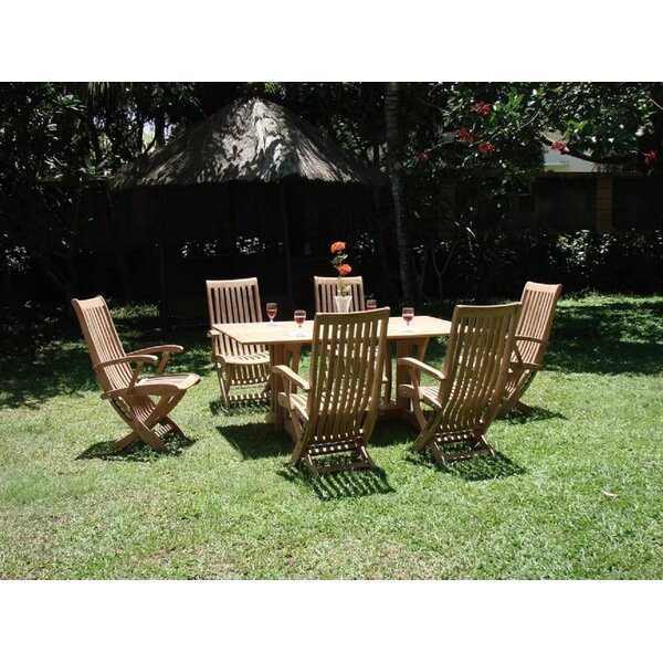 Pranav Luxurious 7 Piece Teak Dining Set by Rosecliff Heights