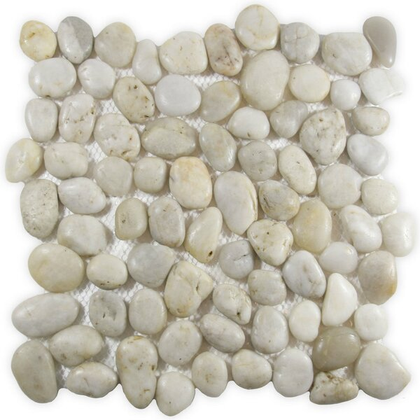 Aras Random Sized Natural Stone Mosaic Tile in White by CNK Tile