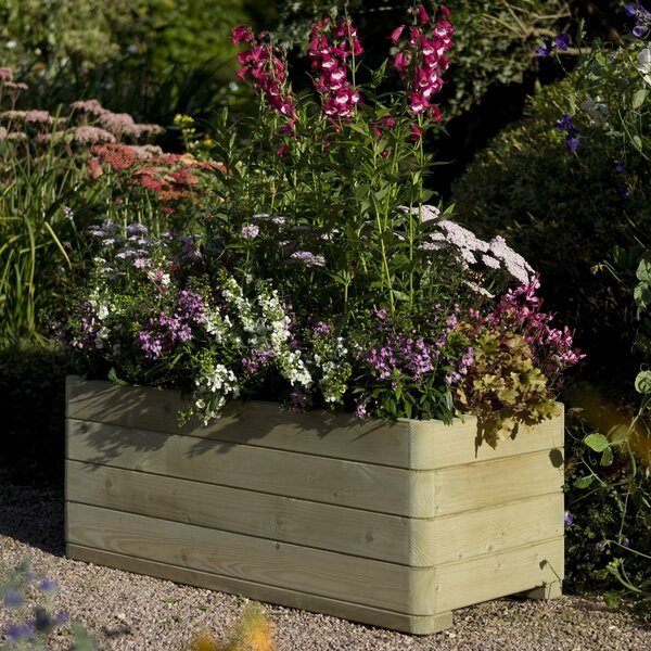 Wood Planter Box by Rowlinson