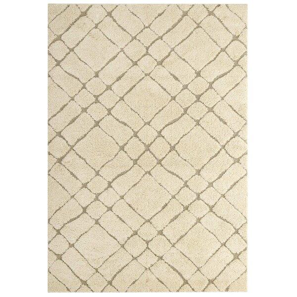 Constance Abstract Cream/Beige Indoor Area Rug by Gracie Oaks