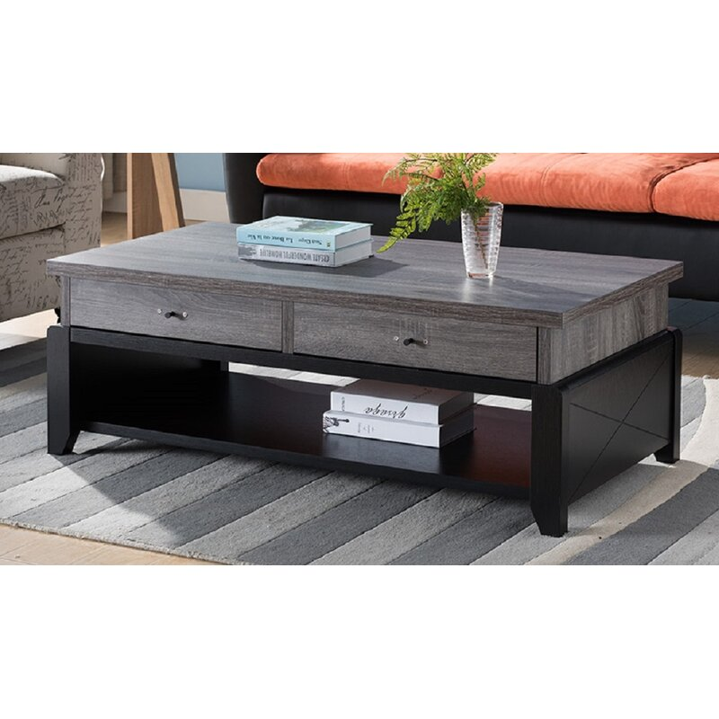 Gracie Oaks Zion Coffee Table With Storage Wayfair