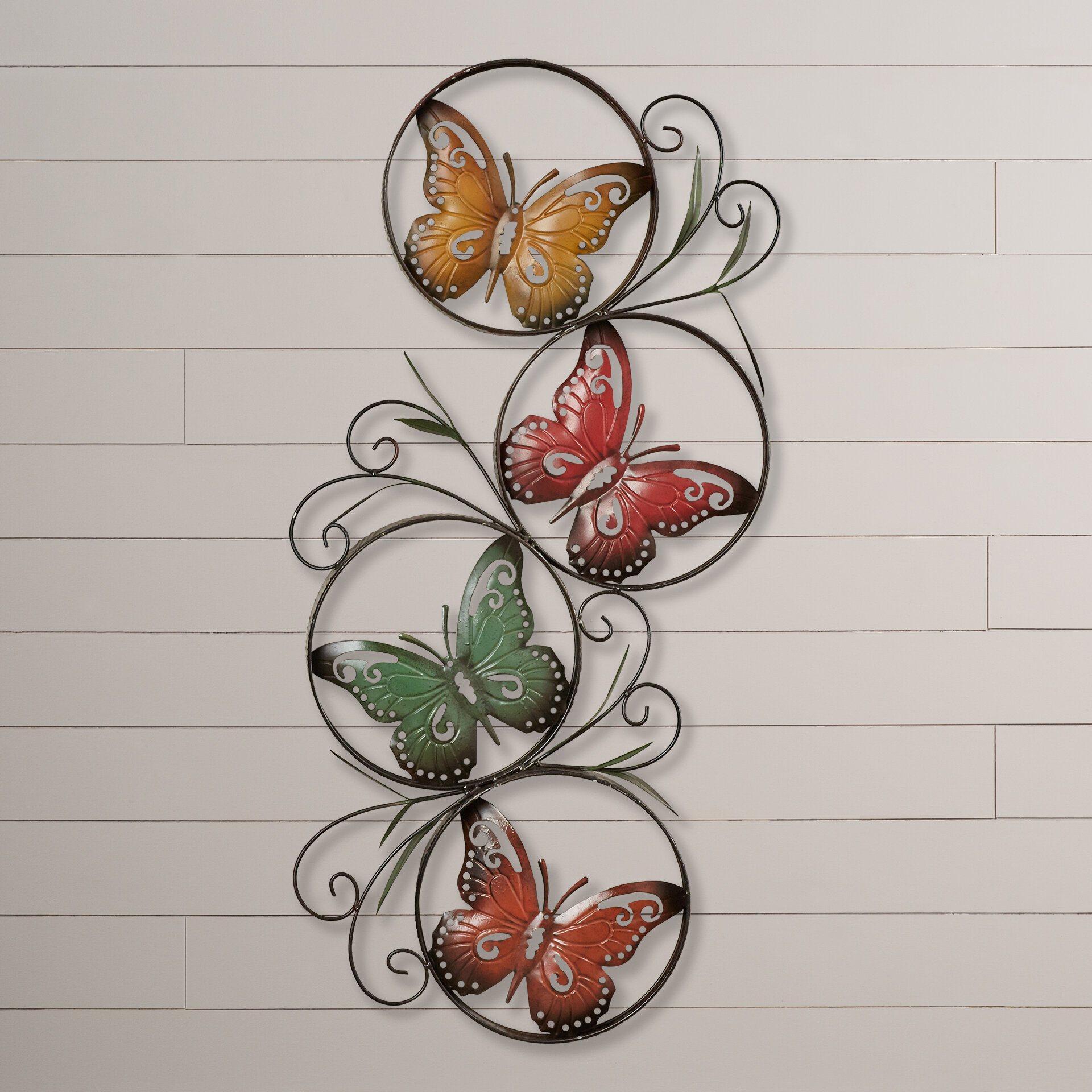 August Grove Ila Metal Butterfly Wall Decor Reviews