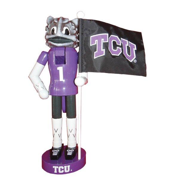 NACC TCU Mascot Flag Nutcracker by Santa's Workshop