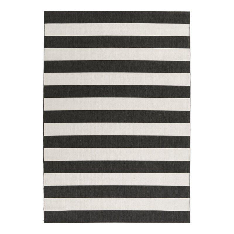 Cecil Stripes Black White Rug