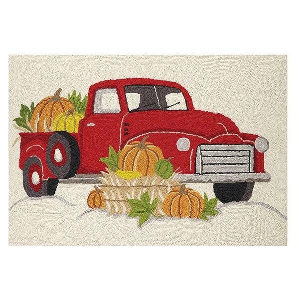 Murrill Truck Pumpkins Kitchen Mat