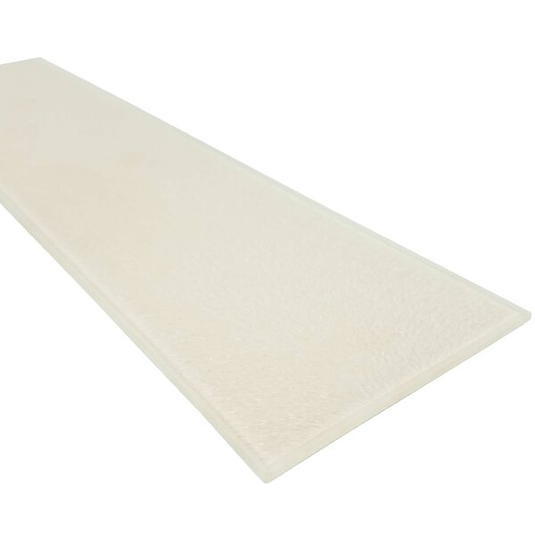 Monroe 4 x 16 Glass Field Tile in Glazed White by Abolos