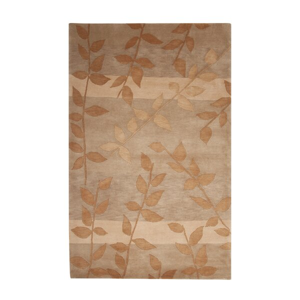 Mystic Hand-Knotted Gold/Beige Area Rug by Red Barrel Studio