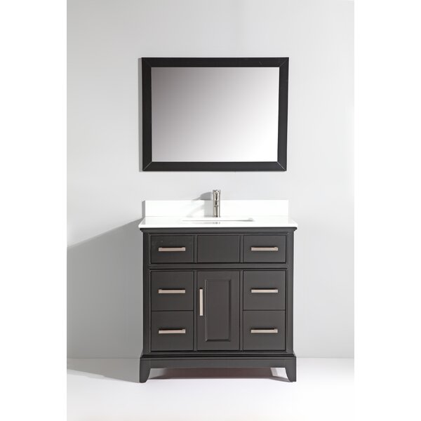 Junie Stone 36 Single Bathroom Vanity with Mirror