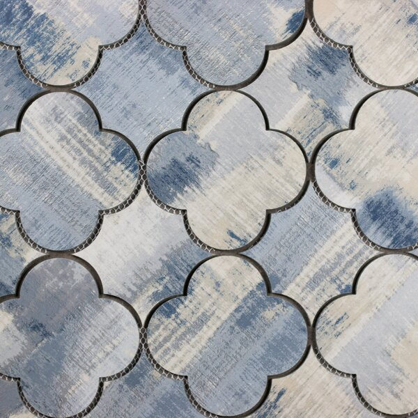 Nature Big Bang 6 x 6 Glass Patterned Tile in Cement Blue/Tan by Abolos